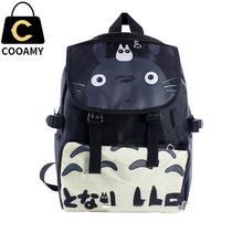 Mochilas de Anime Japonés Mi Vecino Totoro Totoro bolso Impermeable Del Ordenador Portátil Mochila Negro/Doble-Hombro/Bolso de Escuela