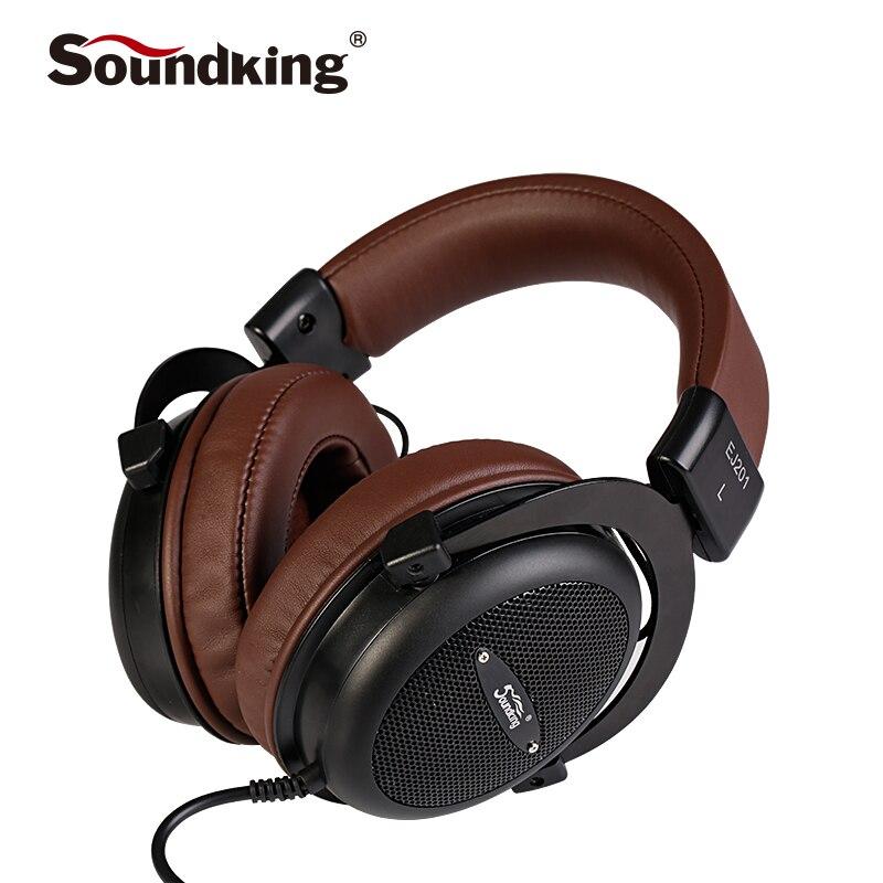 Soundking Genuine Headphone HIFI Stereo Fully Enclosed Dynamic Earphone Studio Monitor Headphones Hifi DJ Headset QRP-N01