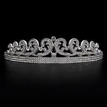 Kate & William Royal Rhinestone Crystal Wedding Hair Crown Tiara