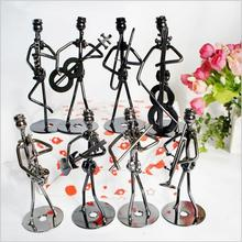 Iron small iron handicrafts mixed batch of band modeling home furnishings man set 8