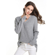 women sweater Plus size V-neck pullover  womens long sleeve loose for Autumn Winter Warm Clothes Solid Color