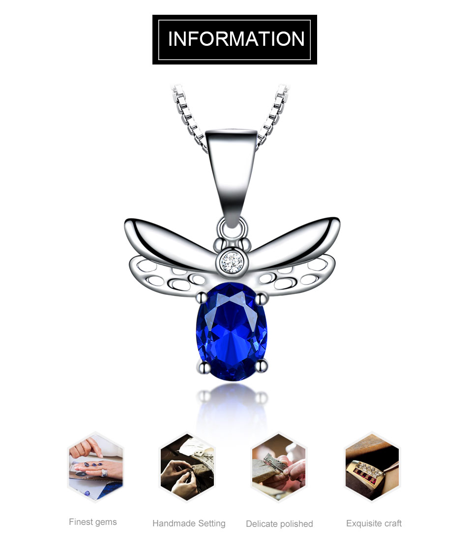 UNCHO blue saphire bee pendant for women -NUJ039S-1 (1)