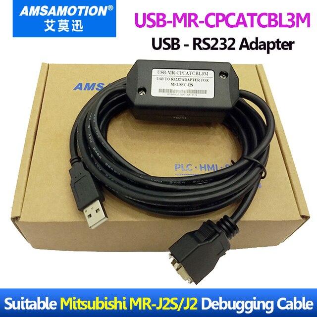 USB MR CPCATCBL3M Suitable Mitsubishi Melsec Servo Drive MR J2S MR J2 Debugging Cable USB To RS232 Adapter