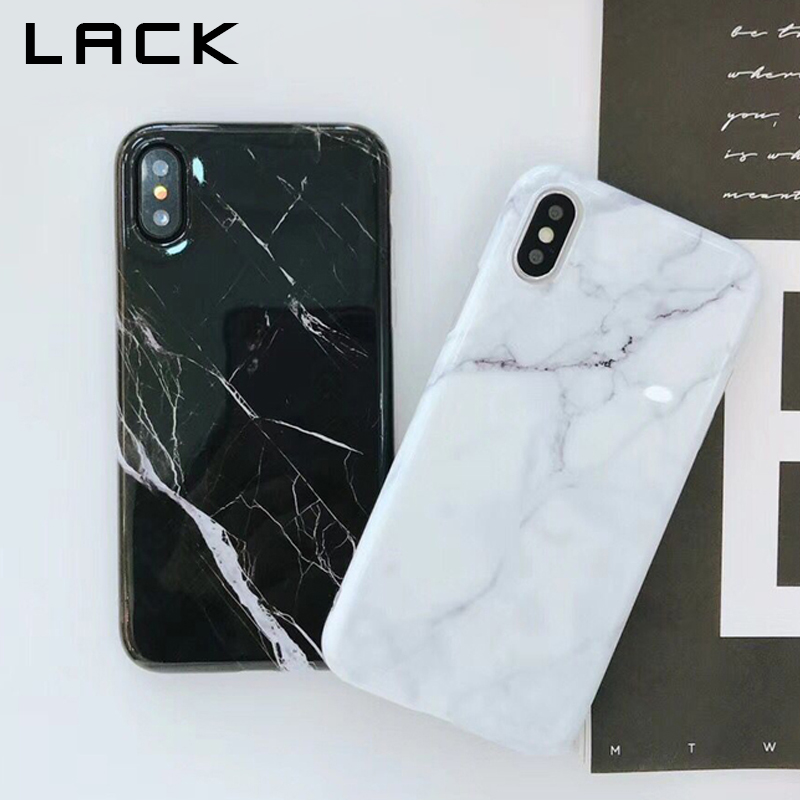 LACK Classic Black White Marble Phone Case For iphone X Case For iphone 6S 6 7 8 Plus Retro Fashion Cover Soft Smooth Cases Capa