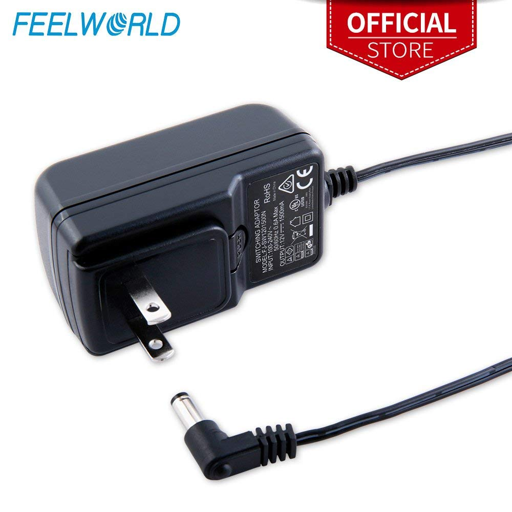 Feelworld DC <font><b>12V</b></font> <font><b>1.5A</b></font> Switching <font><b>Power</b></font> <font><b>Supply</b></font> Home <font><b>Power</b></font> Adapter for 100V 240V AC 50/60Hz for Feelworld F570 T7 T756 FW759 FW759P image