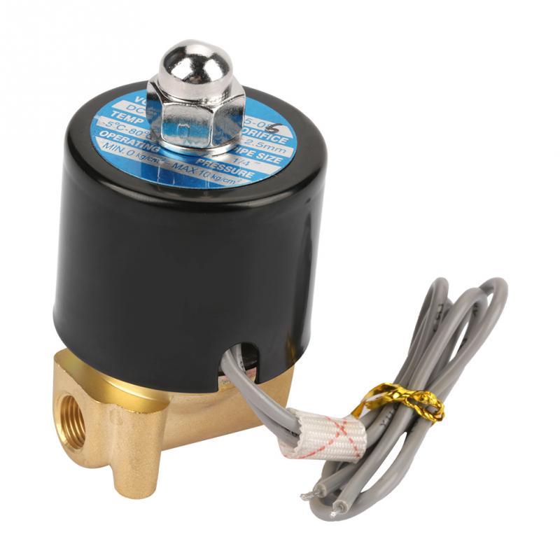 Heimwerker Dc 12 V Magnetventil G1/8 normalerweise Elektrische N/c Ventil Für Wasser Luft Blacknew