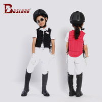 Children riding armor protection vest equestrian safety ventilation
