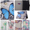 "Cute Cartoon Tree Pen Butterfly Smile Stand Flip Leather Funda Case For Amazon Kindle Fire HDX7 HDX 7 7"" Tablet Cover Case Coque"