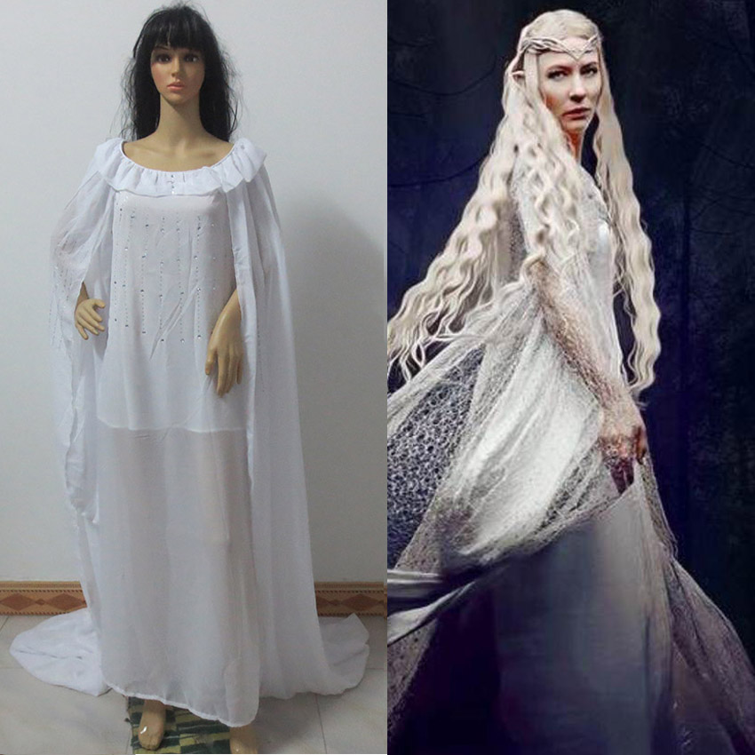 The Hobbits Fairy Queen Galadriel cosplay costume factory price halloween custom made