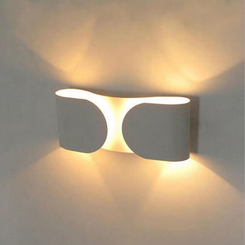 Modern Aluminum 6w LED Wall Lamps for livingroom bedroom Decoration Home Lighting Sconce Light lamparas de pared led wall lamp 6w acryl square modern led wall lamp home indoor lighting wall sconce arandela lamparas de pared