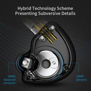 Image 4 - Новинка CCA CA4 1DD + 1BA гибридные наушники вкладыши HIFI DJ спортивный монитор для бега сценический IEM двойной привод Съемный 2 контактный кабель