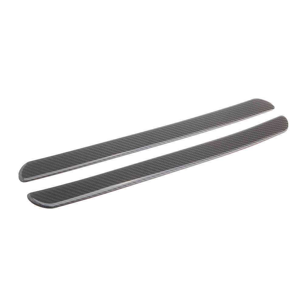 BBQ@FUKA 49cm 2pcs Carbon Fiber Car Scuff Plate Door Sill Cover Panel Step Protector Guard for bmw e36 audi a3 a6 q7 car styling for nissan r35 gtr oem carbon fiber outer door handle cover pull surround 2pcs