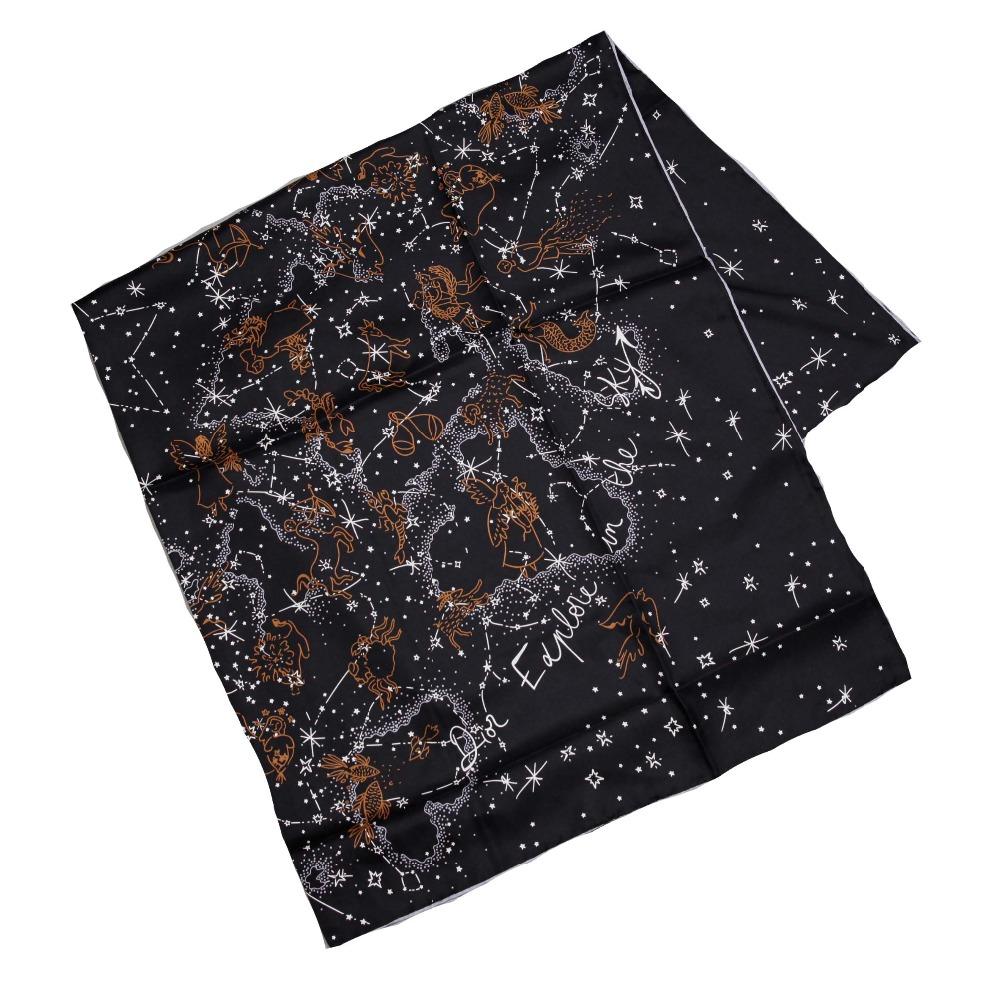 ELEGANT HANDMADE BRAND 100%Twill Silk 110cm Scarf TWID-89500A