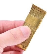 1Pc חשמלי מניקור מקדחות ניקוי מברשת מנקה נייל מקדח כלי נחושת חוט תרגיל מברשת שיניים מקדח