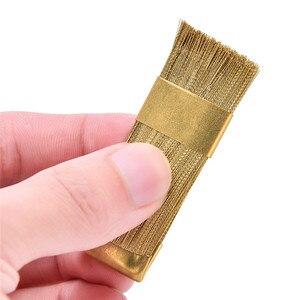 Image 1 - 1Pc חשמלי מניקור מקדחות ניקוי מברשת מנקה נייל מקדח כלי נחושת חוט תרגיל מברשת שיניים מקדח
