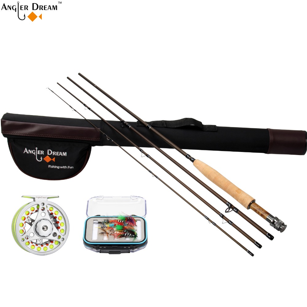 Fly fishing combo 3 4 5 6 7 8wt fly fishing rod and for Trout fishing rod and reel