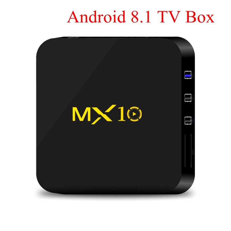 MX10 Android 9.0 Quad-Core TV Box 4K H.265 HDR10 USB 4G//32G WiFi Media Player