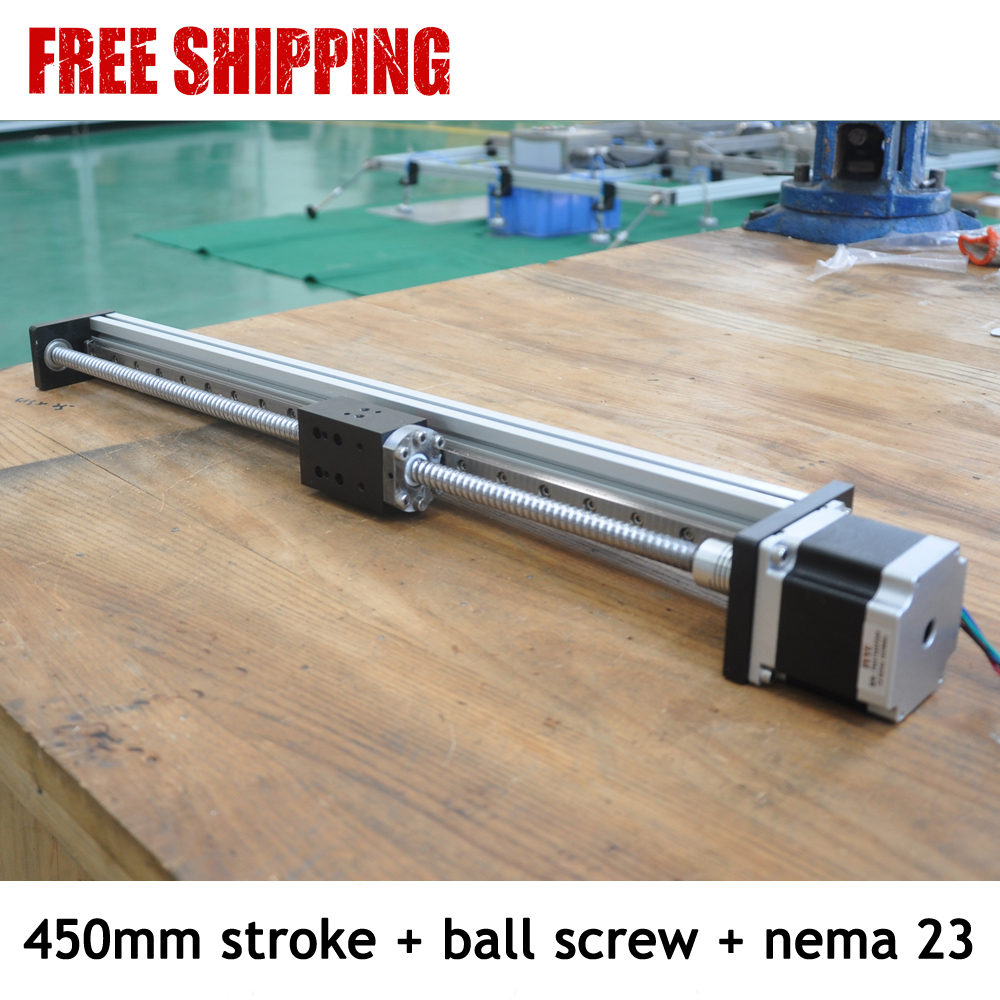 Free shipping 450mm stroke Cnc 40kg load low price linear guide rail for one axis drive free shipping fuyu brand 200mm stroke horizontal or vertical usage linear guide price for cnc machine