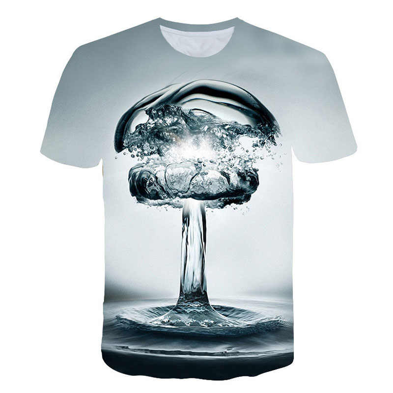 Zomer Mannen 3D T-shirt Bier Tijd Korte Mouw O-hals Fashion Grappige 3D Gedrukte T-shirt Casual Mannen Tops Tees Streetwear tshirt