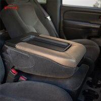 Auto Leather Center Console Armrest Lip Cover Cap For Chevy Chevrolet Silverado Tahoe GMC Sierra Yukon Avalanche KOLEROADER /