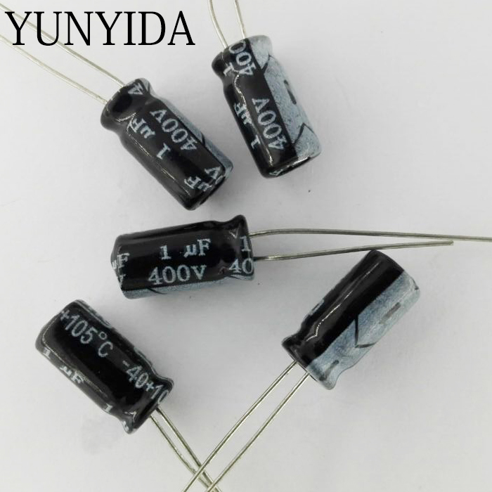 10pcs 400v 1uf 2 2uf 6 8uf 10uf Aluminum Electrolytic