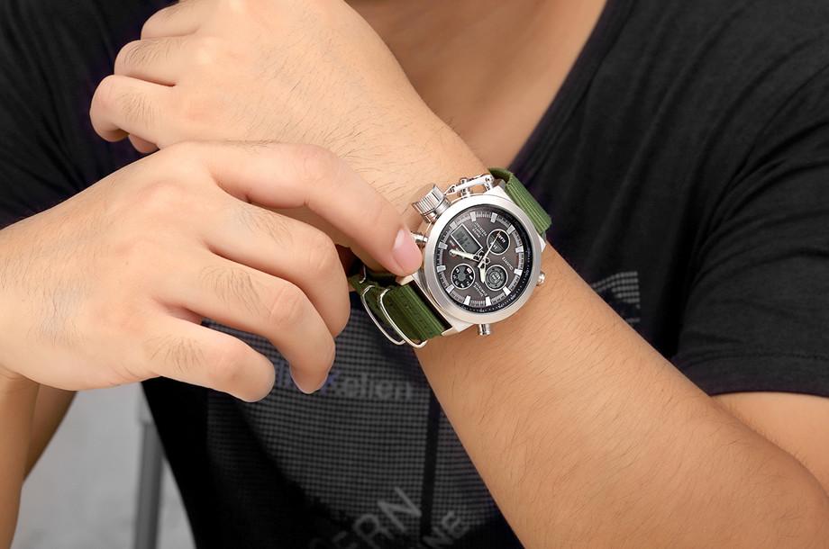 HTB10zv9NXXXXXbnaXXXq6xXFXXXM - GOLDENHOUR Nylon Strap Sport Watch for Men
