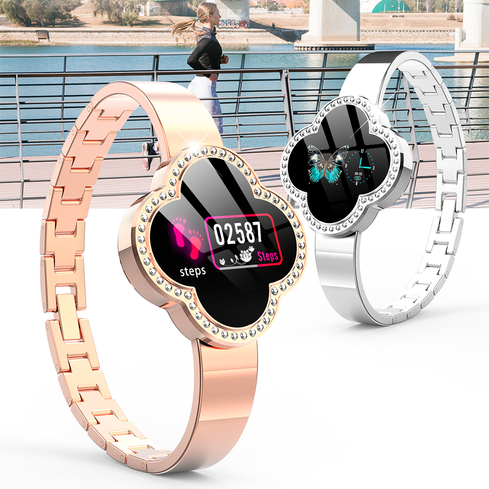 2019 Sport Bracelet Watch Women Lady LED Waterproof Smart Wrist Band Heart rate Blood Pressure Pedometer Clock For Android iOS