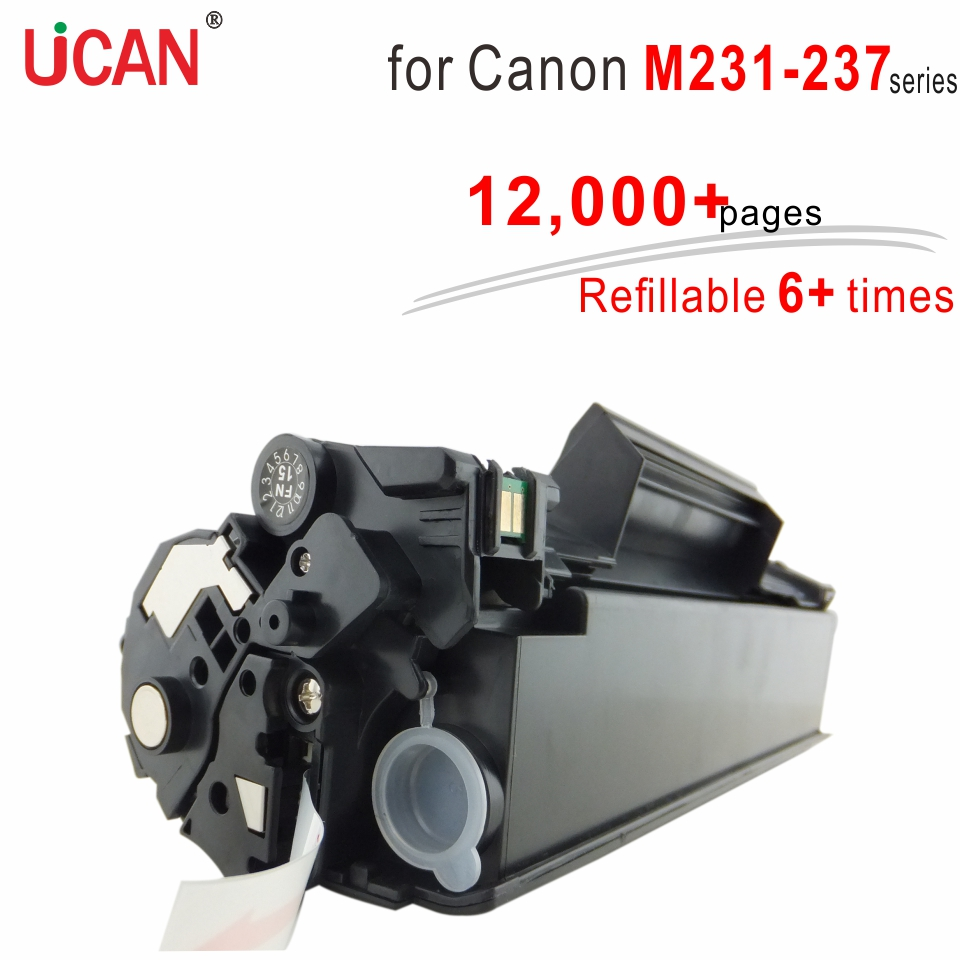 6 times No Waste Toner 337 737 Cartridge compatible Canon MF231 MF232w MF233n MF235 MF236n MF237w Printer