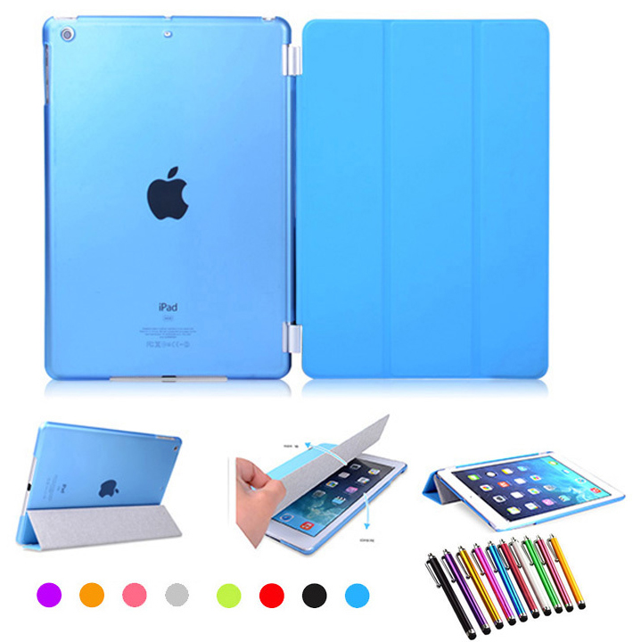 Quality PU Leather Case Slim Magnetic Kin Front Smart Cover with Hard Back Case For ipad mini 1 2 3 retina +Free Stylus Pen
