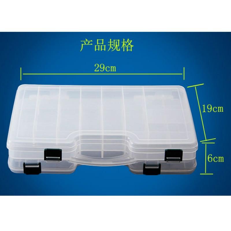 Hohe Qualität Doppelseitige Tragbare Kunststoff Angeln Box 29 * 19 * - Angeln - Foto 5