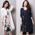 2017 New Style Maternity Dress Plus Size Women Cotton Dresses Casual Clothes Loose O-Neck Pregnant Women Large Size Tops CE408