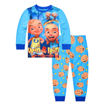 New Baby clothes Kids cotton children's long-sleeved  Boys Girls  baby cartoon home service suit pajamas picturesque childhood 2018 baby footies cotton long sleeved long sleeved yellow stripe balloon climbing suit