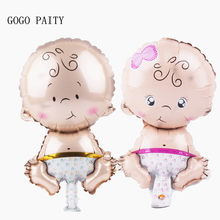 GOGO PAITY Big Head Doll Angels Baby Aluminum Balloon Balloon Age Toys Birthday Party Party Men & Baby Baby(China)