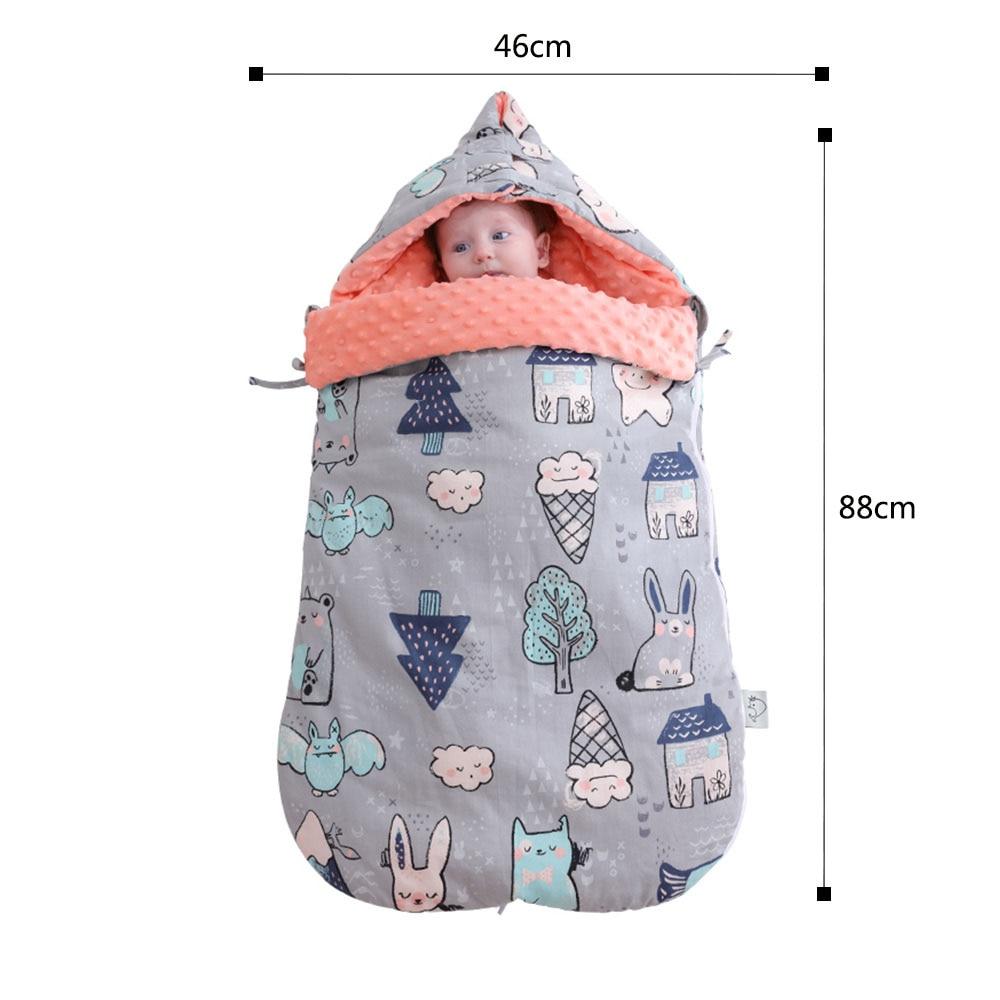 Image 2 - Baby Sleeping Bag Cartoon Animal Cotton Baby Stroller Sleeping Bag Wheelchair Envelopes For Newborn-in Sleepsacks from Mother & Kids