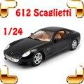 Novo Dom Chegada 612 Scaglietti 1/24 Liga de Metal Modelo de Carro Do Bar Coleção Die-cast Mostrando Decoração Brinquedos De Aço Grande presente