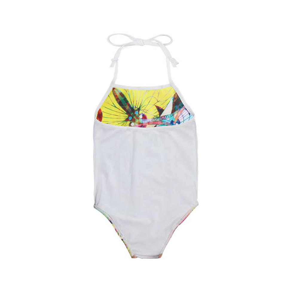 FORUDESIGNS Swimsuit for Girls One-piece Suits Basset Hound Printed Chidlren Swimwear One Piece Swim Suit Kids Bathing Suit