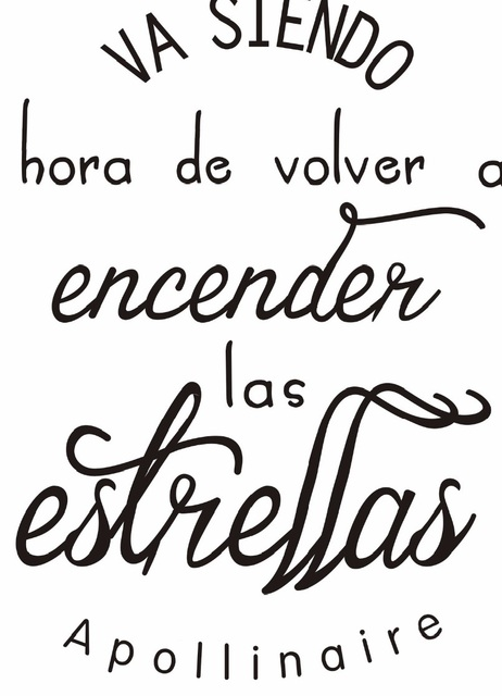 Positive Quotes In Spanish Spanish Inspirational positive Quotes Vinyl Wall Sticker via  Positive Quotes In Spanish