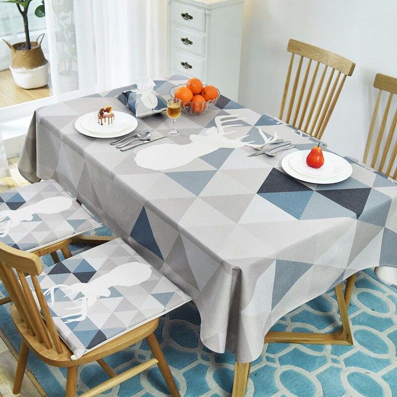 Cotone spessa tovaglia Nordic rettangolare blu cartoon deer stampato ...