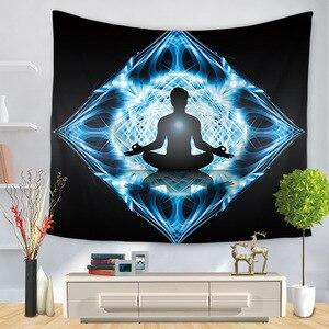 Image 5 - Indian Buddha Standbeeld Tapijt Muur Opknoping Muur Doek Chakra Wandtapijten Psychedelische Yoga Tapijt Woondecoratie
