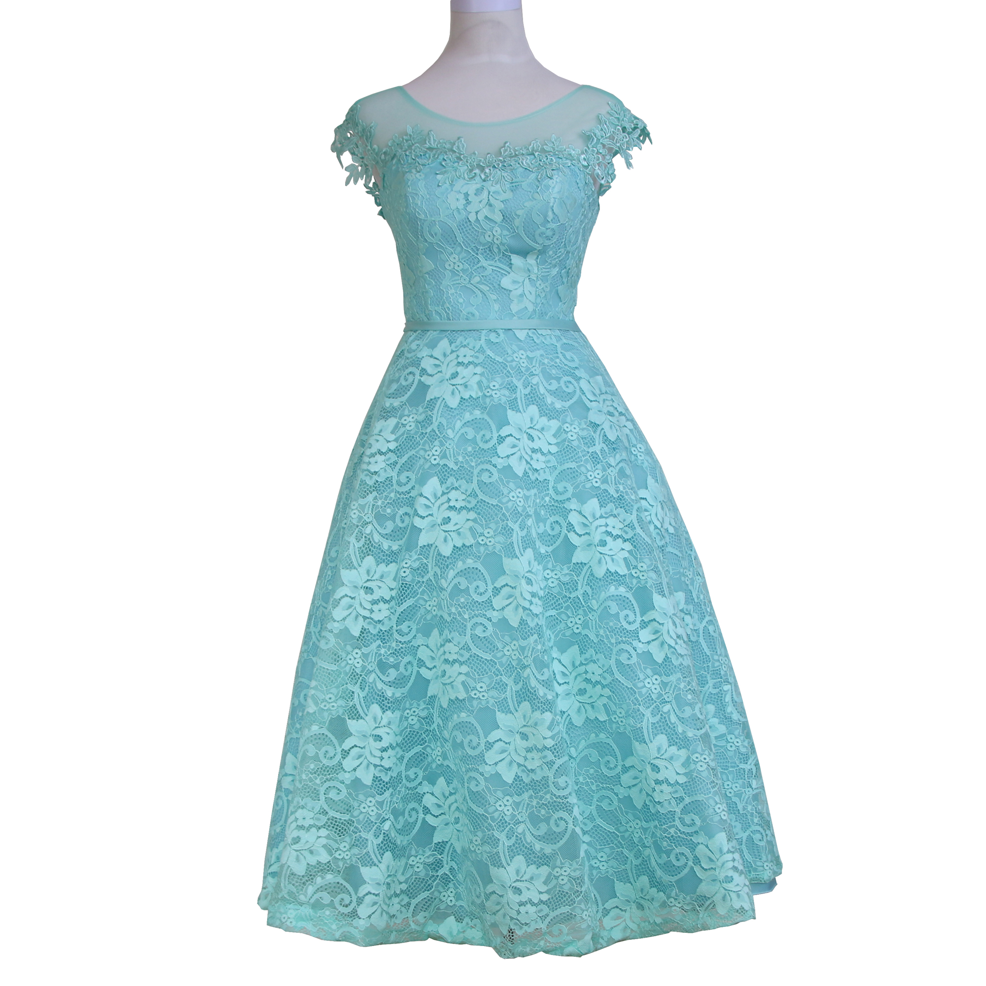83cee98b57bd New Arrival Ice Blue Appliques Lace Tea Length Party Prom Dresses Robe De  Soiree Short Formal Evening Gowns Vestidos Festa GQ70-in Prom Dresses from  ...