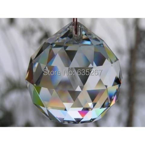 300pcs/lot , 30mm crystal faceted ball crystal glass chandelier parts for  fengshui u0026 chandelier
