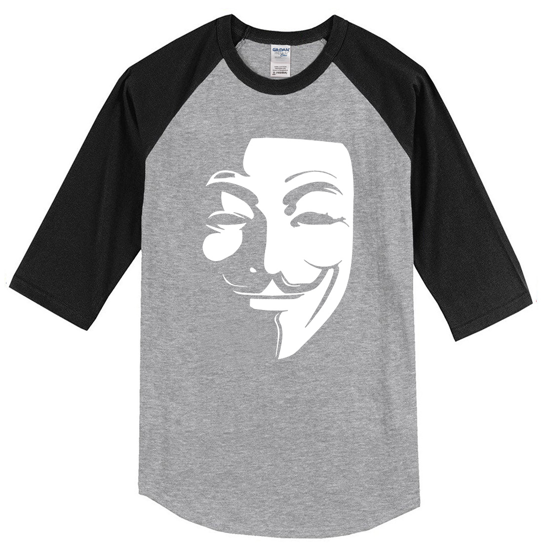 Summer 2019 men's T-shirts three quarter sleeve t shirt V for Vendetta sportswear raglan T-shirt streetwear top t shirt kpop