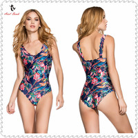 Ariel Sarah 2017 One Piece Swimsuit Women Tracksuit For Women Bodysuit Women Retro Style Bikini Monokini