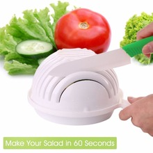 Salad Cutter Bowl  In 60 Second Maker Easy Salad Fruit Vegetable Washer and Cutter Chopper Quick Salad Maker  Kitchen tools