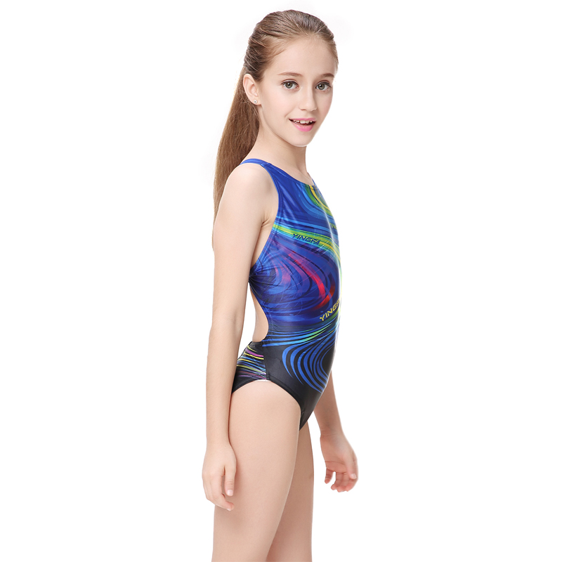 37879d677e021 Yingfa children one piece swimwear kids girls racing bathing suits  competition swimsuits tight girls professional swimsuits -in One-Piece Suits  from Sports ...
