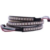1 м 12 мм PCB 144 светодиода WS2812B 144 светодиодов/m 5050 RGB Чип WS2811 IC Digital 5V светодиодная полоса света не водонепроницаемая