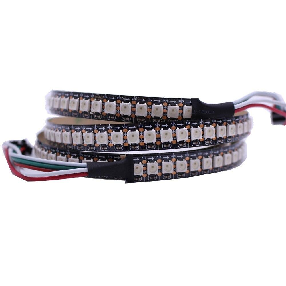 1m 12mm PCB 144leds WS2812B 144 LEDs/M 5050 RGB Chip WS2811 IC Digital 5V LED Strip Light non-Waterproof