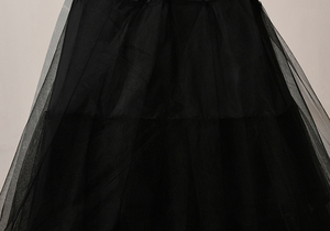 Image 4 - Janevini結婚アクセサリー黒3層チュールアンダー用ウェディングドレスロングペチコートaラインアンスコ喧騒petticots
