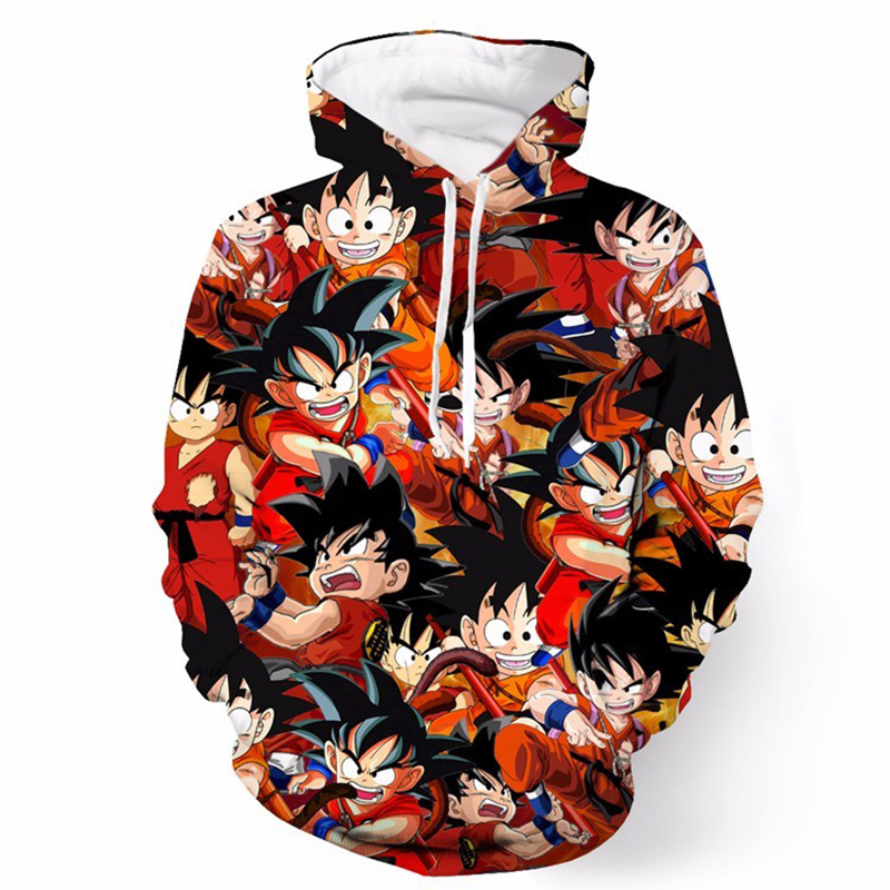 Cloudstyle Dragon Ball 3D Anime Hoodies Mænd Kid Goku 3D Print Hat - Herretøj - Foto 3