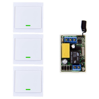 4 X Wall Panel Remote Transmitters Mini Size 220V 1CH 1CH 10A Wireless Remote Control Switch